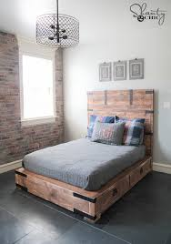 How To Build A King Size Platform Bed With Drawers by Diy Full Or Queen Size Storage Bed Shanty 2 Chic