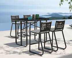 Patio Bar Chair Outdoor Bar Height Table And Chairs Design Foster Catena Beds