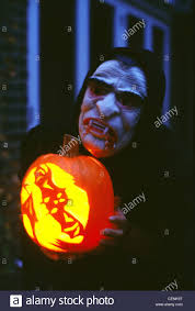 have a hell of a halloween to make pumpkin lantern person dressed