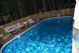 inground pools at night pool lights for replacement inspiration