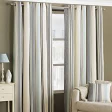 Purple And Cream Striped Curtains Eyelet Curtains Affordable And Quality Curtains Terrys Fabrics
