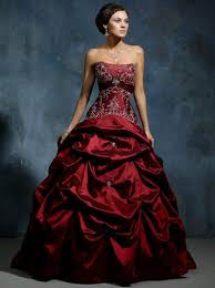 coloured wedding dresses uk buy bright coloured burgundy empire embroider working