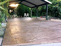 How To Resurface Concrete Patio Gorgeous Diy Stamped Concrete Tile Driveway For Less Much Less
