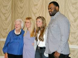 Mike Oher Blind Side Real Life Trio From The Blind Side Charm Houston Audience