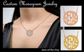 monogram pendants monogram pendants custom made in sterling silver gold vermeil