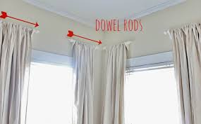 Installing Curtain Rod How To Hang Curtain Rod Without Brackets Gopelling Net