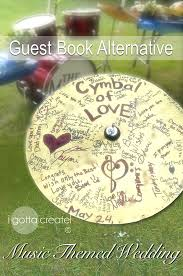themed guest book i gotta create wedding guest book idea cymbal of