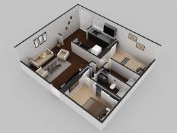 Modern Houses Floor Plans by 3d Residential Modern House Floor Plan Arch Student Com