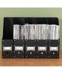 Desk Organizers 5 Black Plastic File Folder Paper Magazine Holder Mail Office Desk