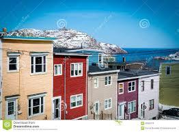 row houses in downtown st john u0027s newfoundland canada shows