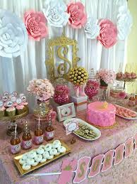gold and pink baby shower pink and gold baby shower baby shower party ideas photo 3 of 7