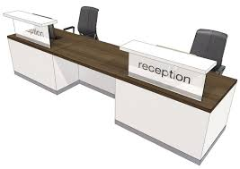 Two Person Reception Desk Two Person Reception Desk Evo Class Office Reality