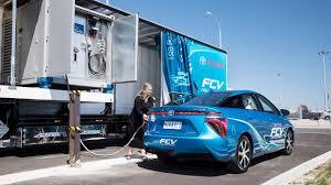 lexus australia build toyota australia builds a mobile hydrogen filling station