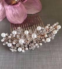 pearl hair comb uk bridal prom gold diamanté pearl hair comb clip