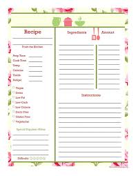 533 best recipe pages cards images on pinterest printable recipe