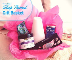 themed gift to make a sleep themed gift basket