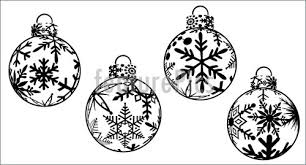 holidays christmas ornaments clipart stock illustration