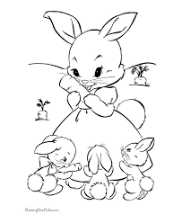rabbits coloring pages free easter printables home easter bunny with eggs picture