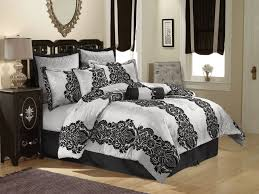 Silver Comforter Set Queen Black And Silver Scroll Queen Or King Comforter 8 Piece Set