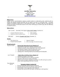 sle resume for bartending position bartender objectives resume will objective for server