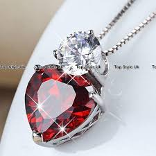 red necklace women images Sale black friday deals red crystal necklace women wife gifts for JPG