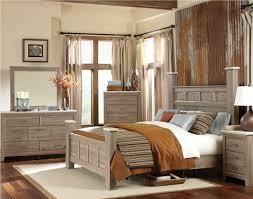 furniture stonehill poster bedroom set in weathered oak