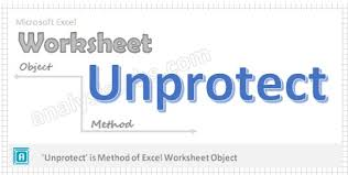 unprotect worksheet method vba explained with examples