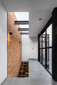 Industrial Modern House Uncovered Brick Wall Space Steal The Particular Show Within This
