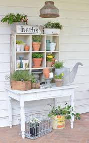 farmhouse style potting bench farmhouse style bench and summer