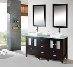 Bathroom Vanities With Glass Tops 60 Inch Modern Bathroom Vanity Cabinet Furniture Double Sink Glass Top