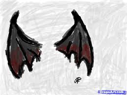 how to draw bat or vampire wings step by step concept art