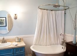 Ceiling Mounted Shower Curtain Rods by Circular Shower Curtain Rod Natural Bathroom Ideas