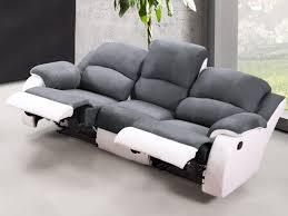 canap relax gris canapé et fauteuil relax en microfibre 3 coloris bilston