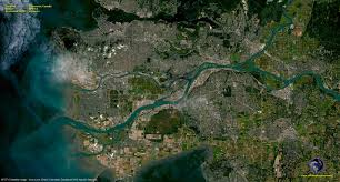 Map Of Vancouver Canada Spot 6 Satellite Image Of Vancouver Canada Satellite Imaging Corp