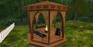 Gazebo Fire Pit by Second Life Marketplace Small Gazebo With Fire Pit Planter