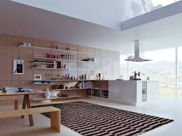 White Kitchen Floor Ideas by Contemporary Kitchen Best Contemporary White And Wood Kitchen