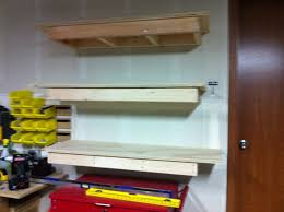 Building Wood Shelves 2x4 by My Diy Cabinets Shelves The Garage Journal Board