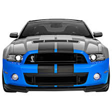 shelby v6 mustang ford front bumper conversion kit 13 14 gt500 style v6 gt 11 14