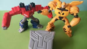 optimus prime cake topper transformers cake topper bumblebee and optimus prime plus logo box