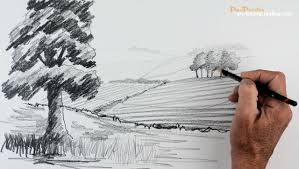 How To Draw Landscapes by Start Drawing Part 5 Create Distance In A Landscape Youtube