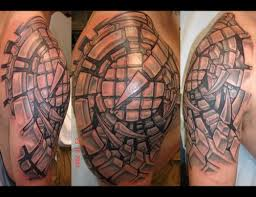 biomechanical cubism tattoos tattoo boy