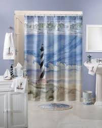 Shower Curtain Nautical Lighthouse Shower Curtain Foter