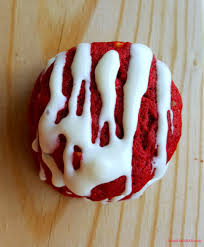 red velvet cookies with cream cheese drizzle recipes pinterest