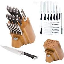 what is a set of kitchen knives chicago cutlery fusion knife block set kitchen knives stainless