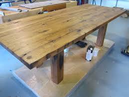 handmade reclaimed oak barnwood dining table by metz woodworks