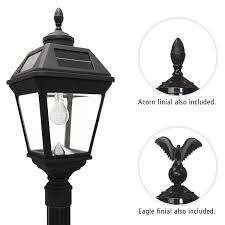 imperial bulb solar lamp and single lamp post with gs solar led