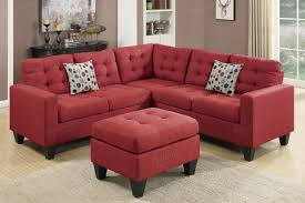 Sectional Sofa With Bed by Red Fabric Sectional Sofa And Ottoman Steal A Sofa Furniture