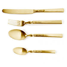 add drama and refined elegance with the herdmar 1911 gold cutlery