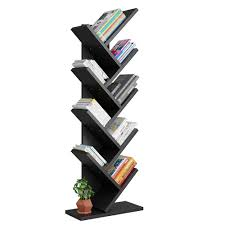 Triangle Shaped Bookcase Tribesigns 9 Shelf Tree Book Shelf Modern Bookcases And Shelves