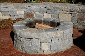 Round Brick Fire Pit Design - outdoor stone fire pit kits and fire pit inserts